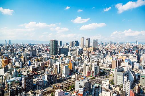View Over Osaka, Japan