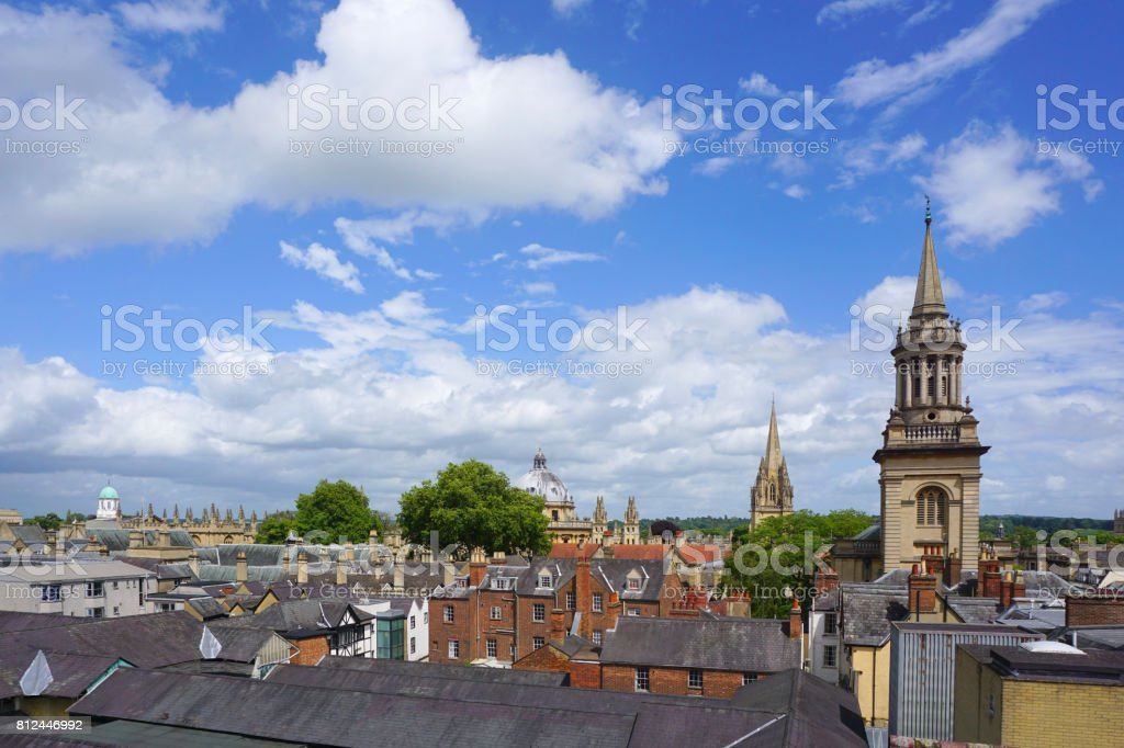 View over Oxford, England stock photo