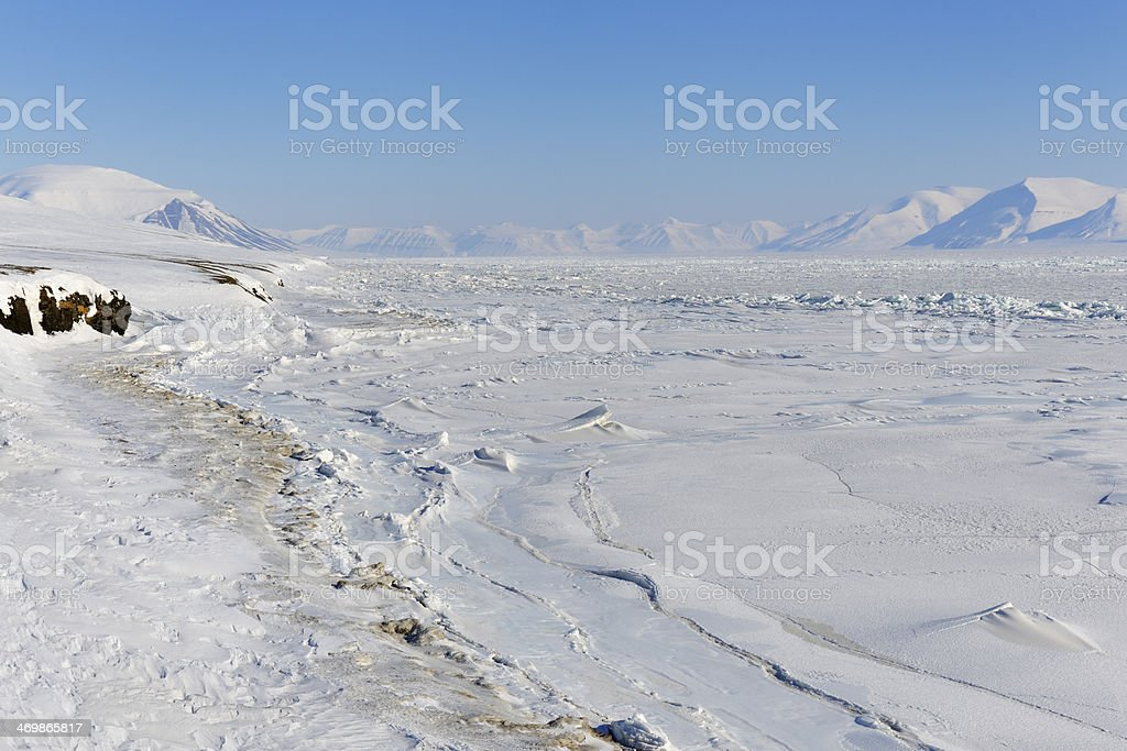 View over pack-ice stock photo
