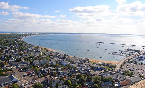 View over Provincetown, Massachusetts View over Provincetown, Massachusetts toward East Harbor. provincetown stock pictures, royalty-free photos & images
