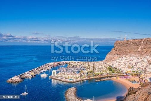 istock View over Puerto de Mogan - Gran Canaria 502691061