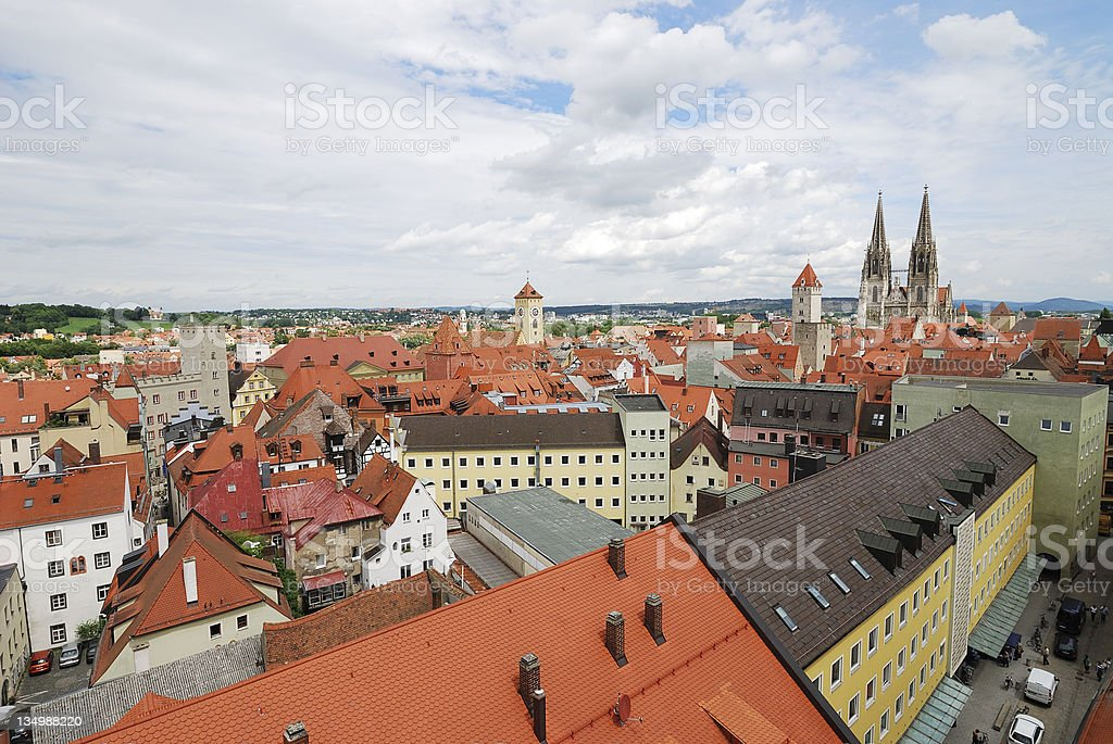 View over Regensburg royalty-free stock photo