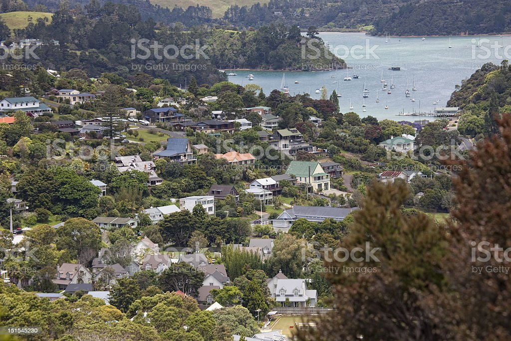 View over Russell and Bay of Islands royalty-free stock photo