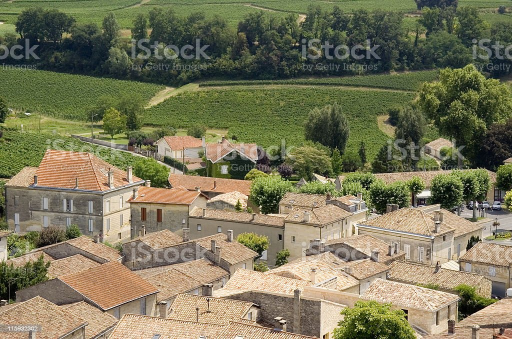 view over saint-emilion and vineyards royalty-free stock photo