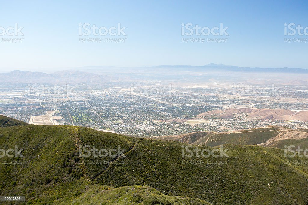 View over San Bernardino stock photo