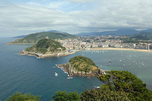 View over San Sebastian Bay stock photo