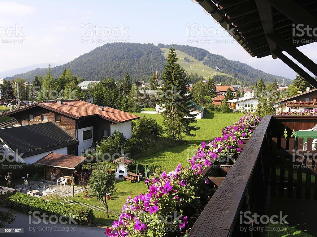 View over Seefeld stock photo