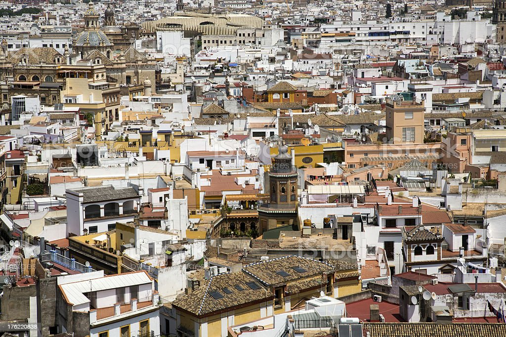 View Over Seville royalty-free stock photo