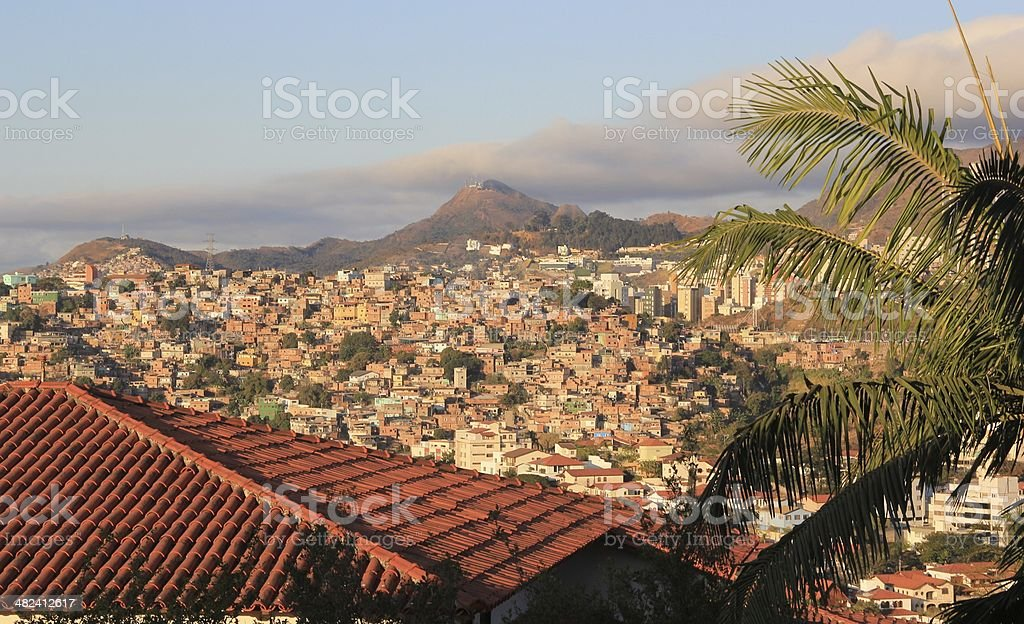 View over slums in Brazil stock photo