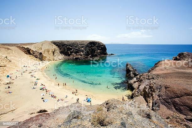 Photo of view over small bay at Papagayo beach