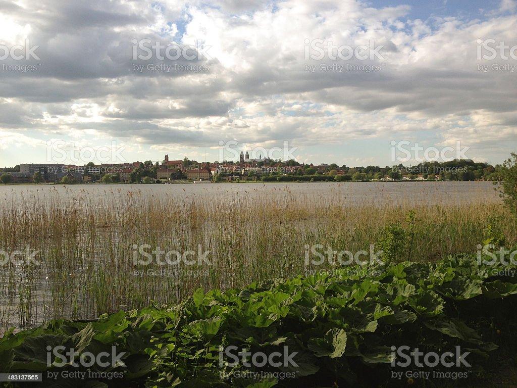 View over Sønder Sø in Denmark stock photo