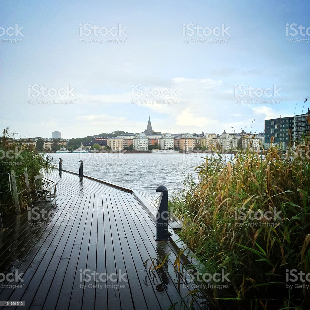View over Sodermalm district of Stockholm stock photo