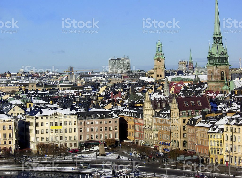 view over stockholm royalty-free stock photo