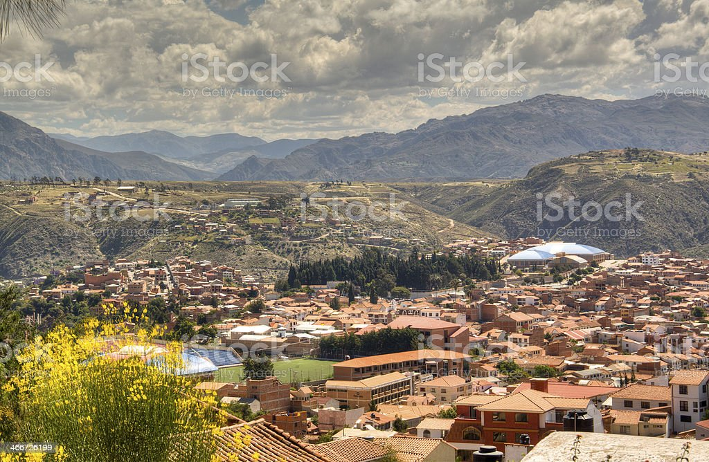 View over Sucre stock photo