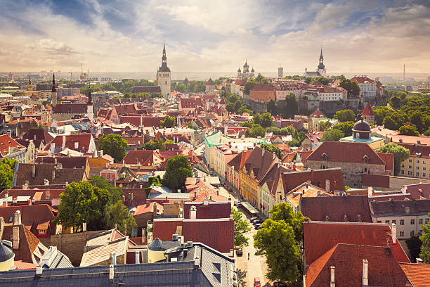 View over Tallinn old town - Photo