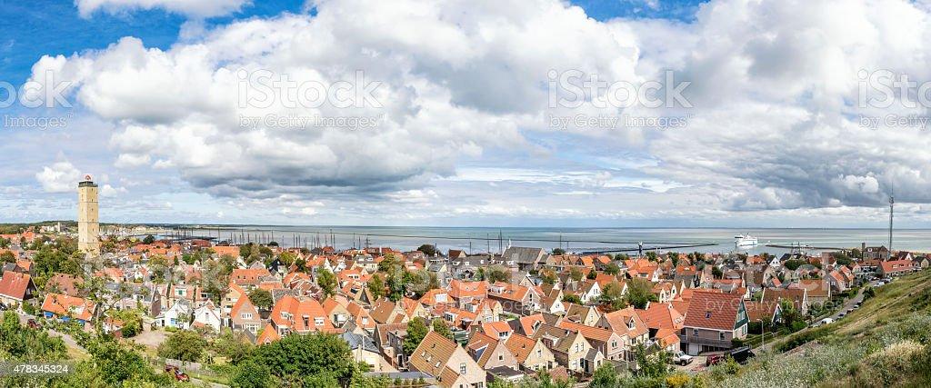 View over Terschelling island in the Waddensea stock photo