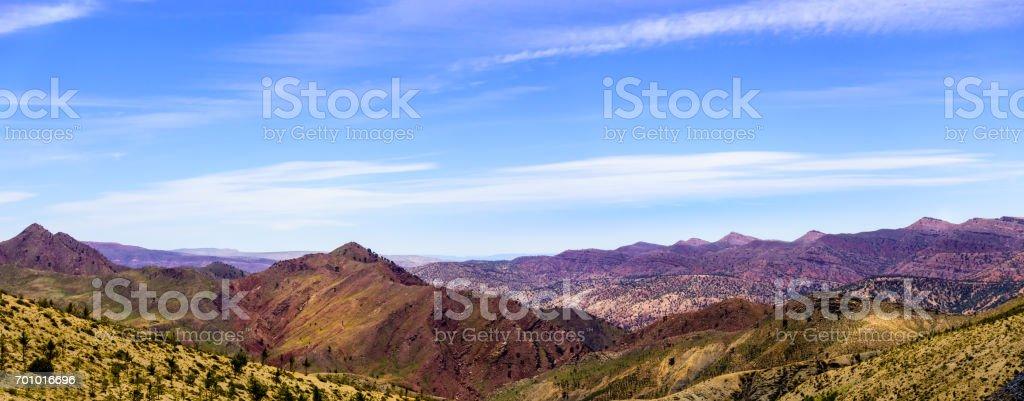 View over the Atlas mountains stock photo