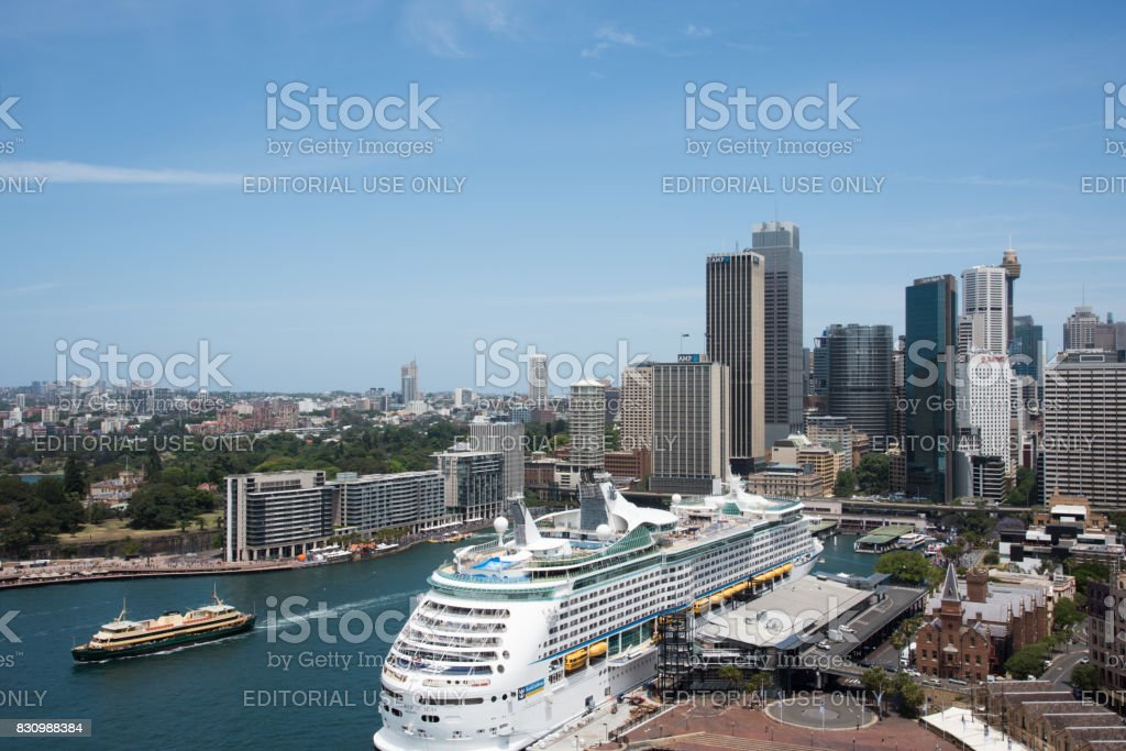 View over the Circular Quay stock photo
