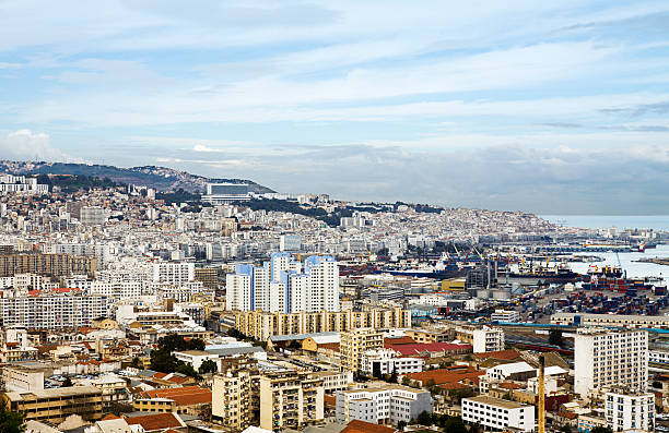 view over the city of algiers - algeria stock photos and pictures