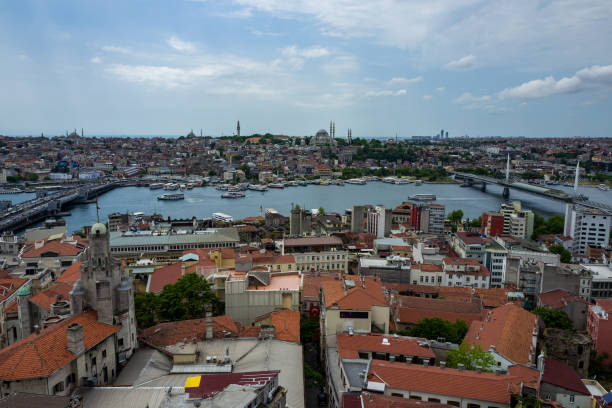 View over the city of Istanbul, Turkey stock photo