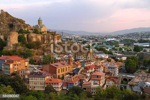 Narikala Castle and view over Tbilisi, Georgia