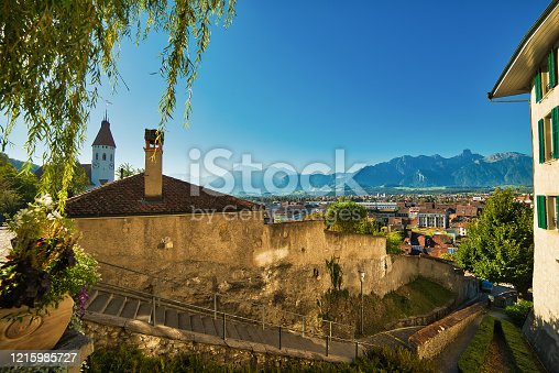 istock View over the city of Thun to the Alps 1215985727