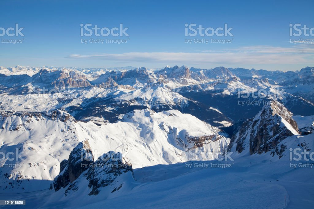 View over the Dolomites from Mount Marmolada royalty-free stock photo