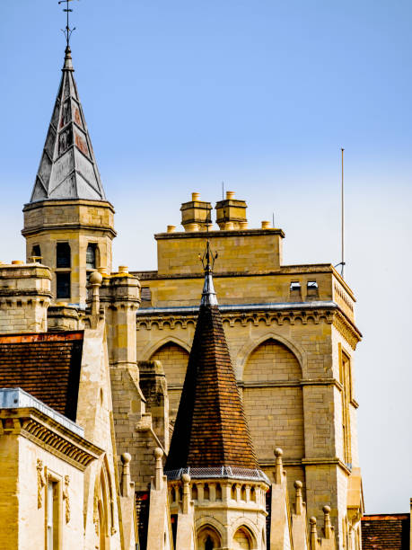 A view over the 'dreaming spires' of Oxford. University town Oxfordshire, England UK. stock photo