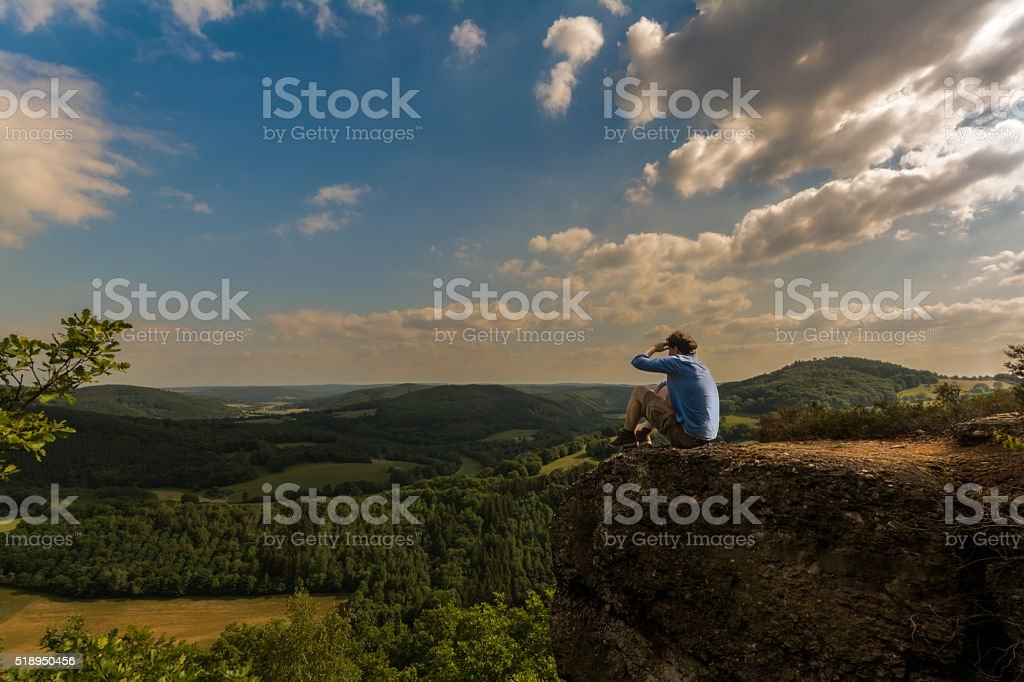 View over the Eifel, Germany stock photo