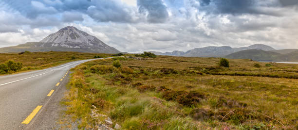 View over the Errigal Mountain and the Landscape stock photo