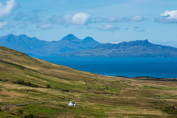 View over the inner hebridean islands of Eigg and Rum