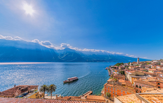 View over the Lake Garda and Limone Sul Garda