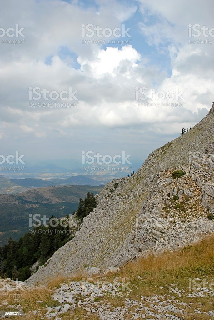 View over the Luberon, France royalty-free stock photo