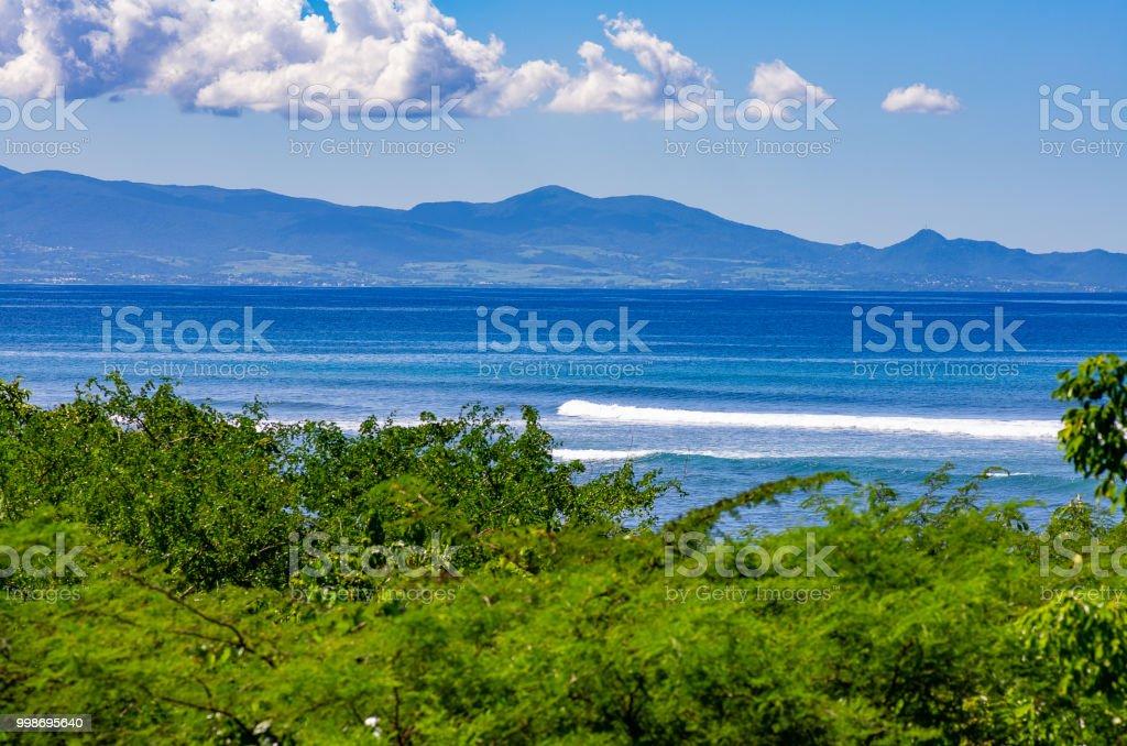 Blick über den Bromelien Wald aus Grande-Terre an der Küste von Basse-Terre, Guadeloupe – Foto
