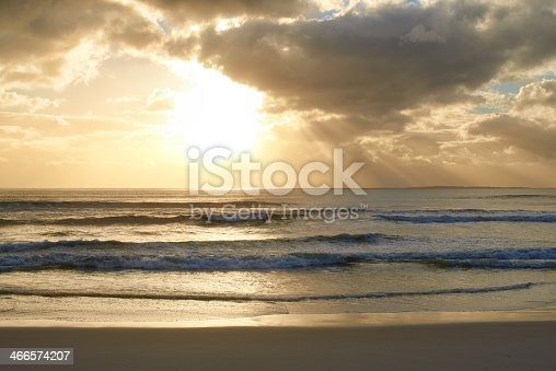 Shot of a beautiful sunset over the beach