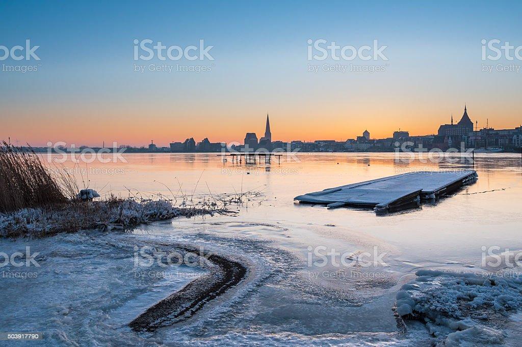 Blick auf der Warnow in Rostock – Foto