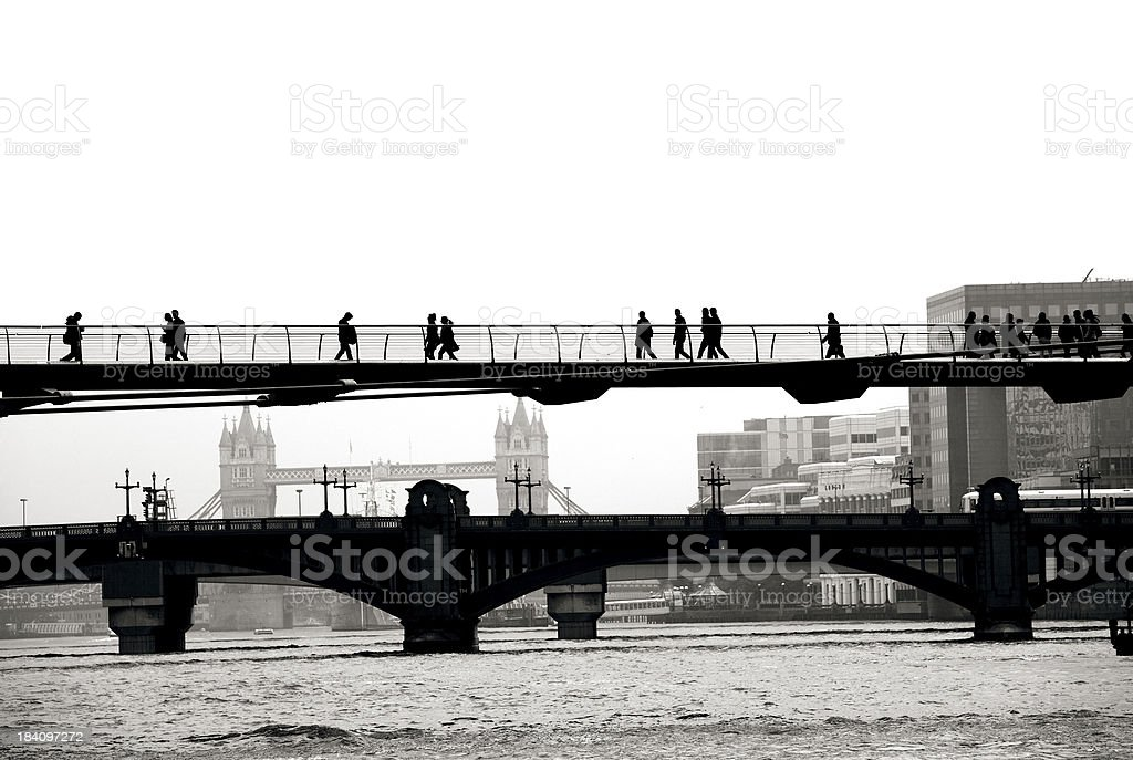 View over the Thames river royalty-free stock photo