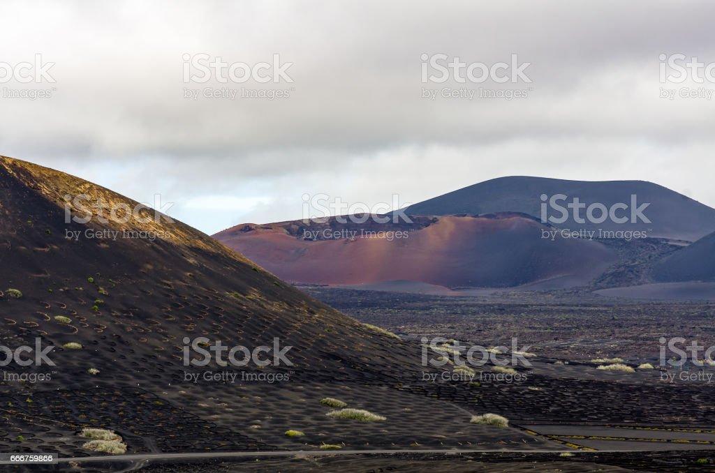 View over the valley of la Geria, Lanzarote foto stock royalty-free