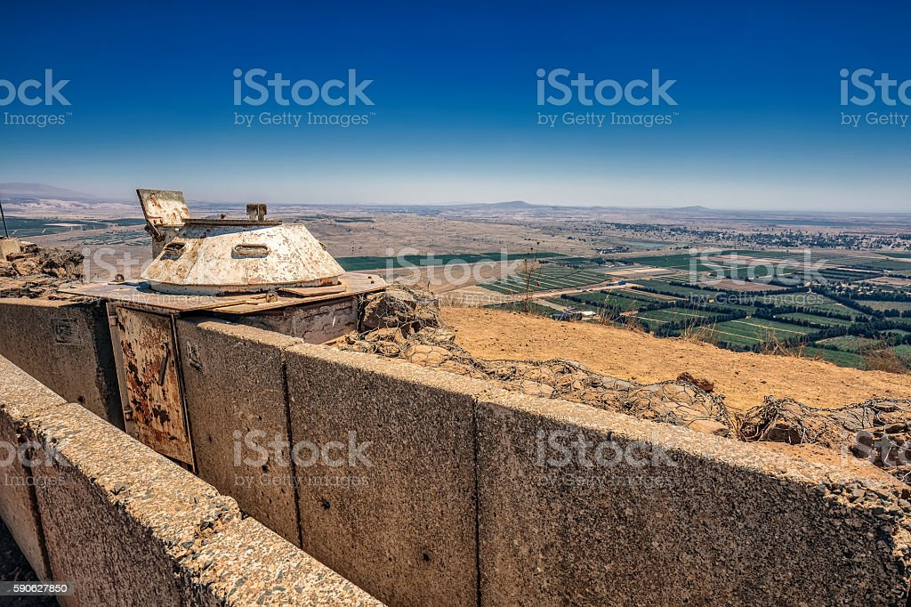 View over trench - foto de stock
