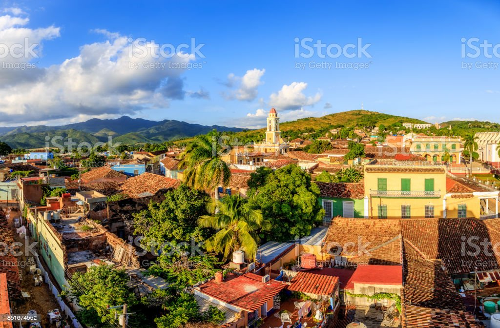 View over Trinidad, Cuba stock photo