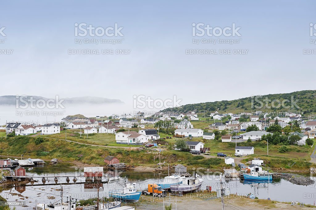 View over Twillingate royalty-free stock photo
