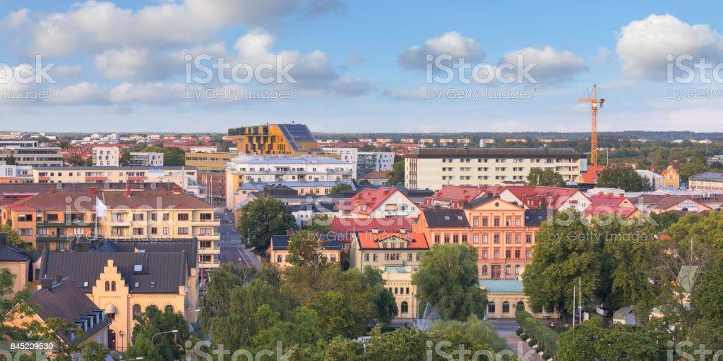 View over Uppsala stock photo
