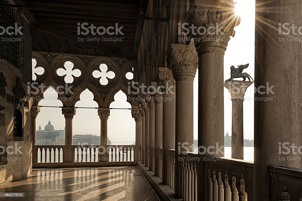 View over Venice from the Doge's Palace stock photo