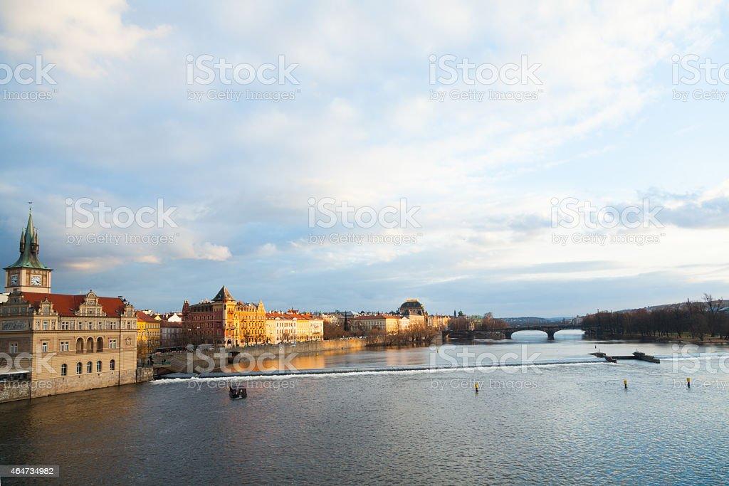 Blick auf die Moldau south/east von der Karlsbrücke – Foto