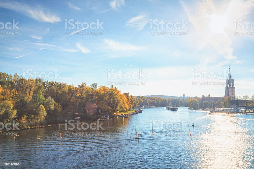 View over Water in Fall/Havel/Potsdam stock photo