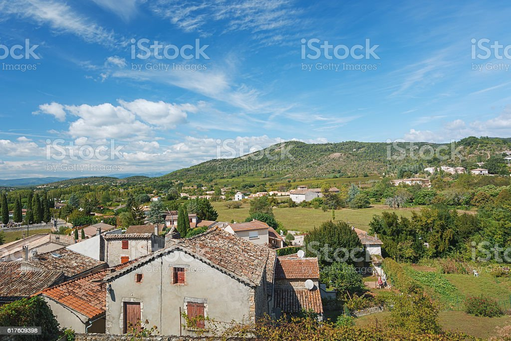 View overlooking the town. stock photo