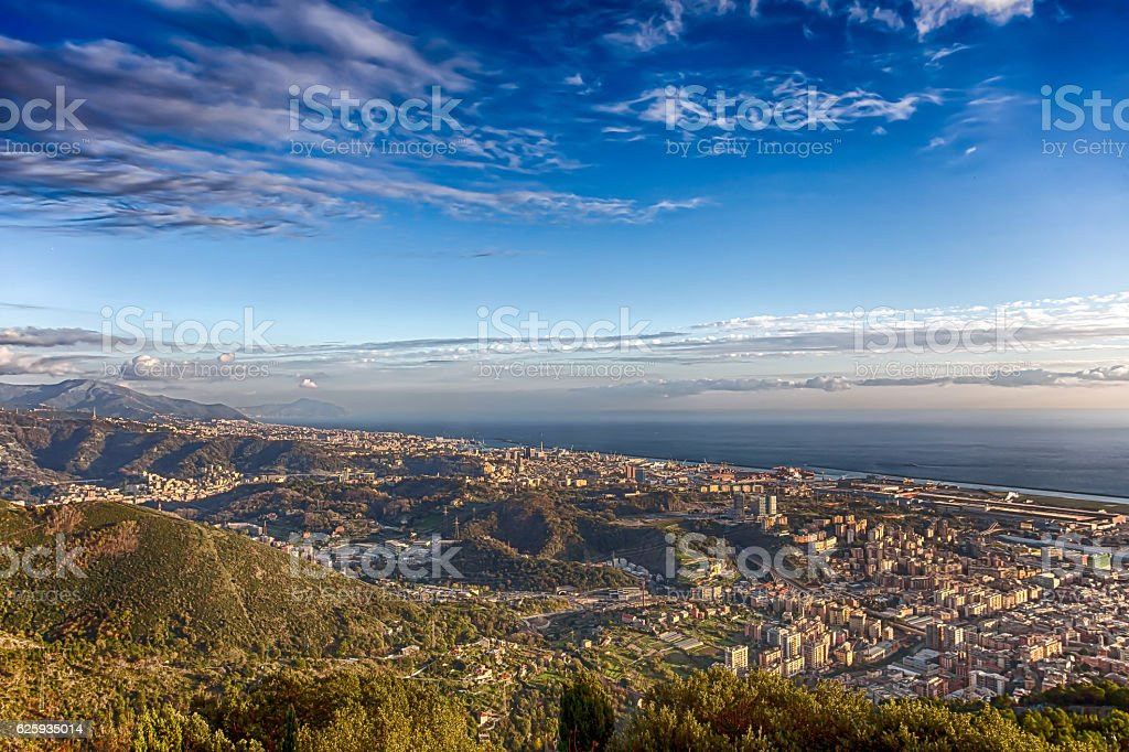 View point of city of Genoa/ Italy stock photo