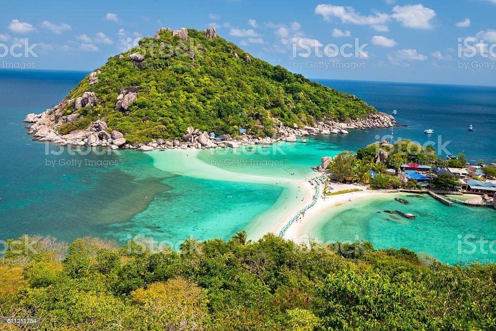 View point of Nang Yuan island of Koh Tao island stock photo