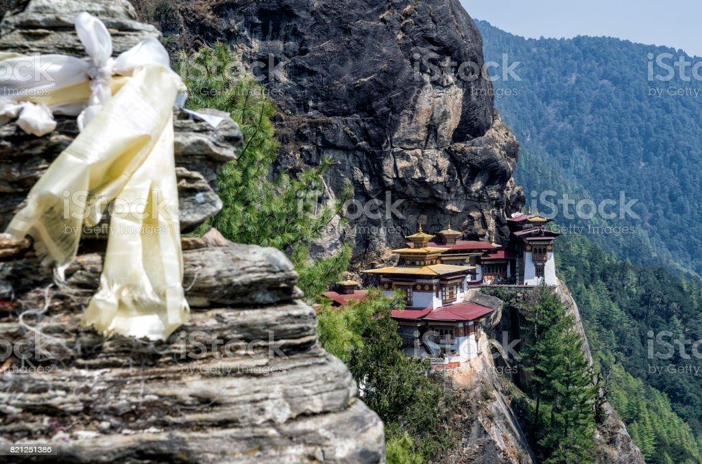 View Point of Taktshang monastery, Bhutan stock photo
