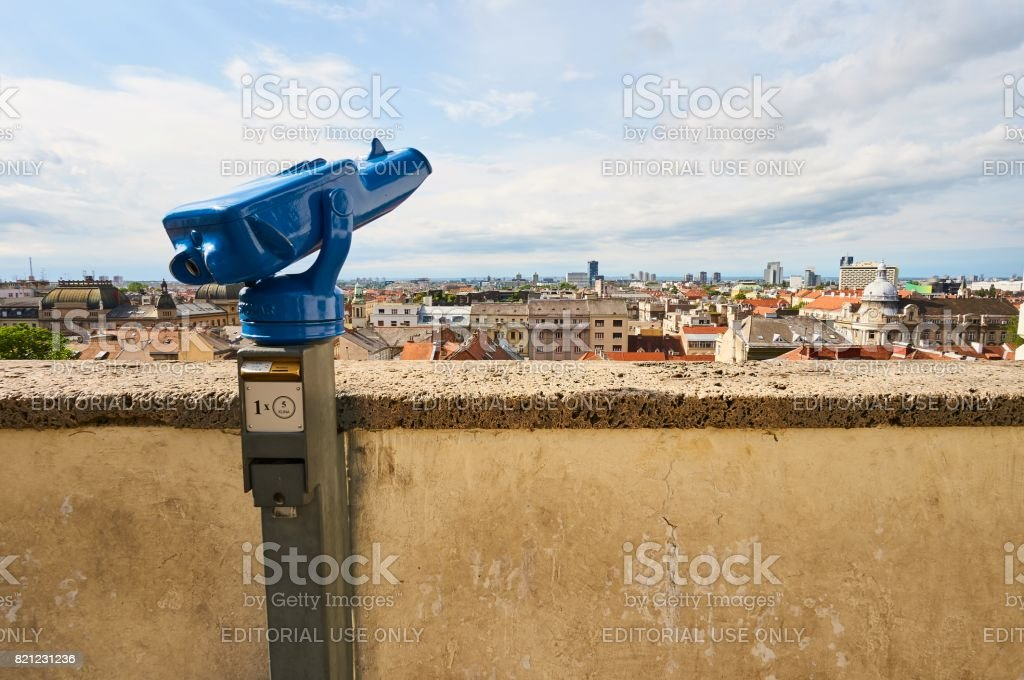 View point on Grič in city Zagreb stock photo